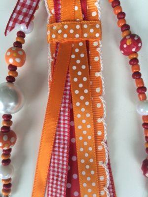 tassenhanger uiltje oranje rood detail 2