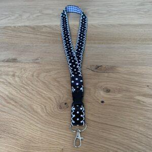keycord zwart wit polka dot
