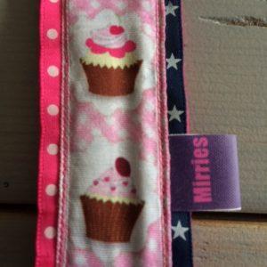 tassenhanger cupcake marine roze 2