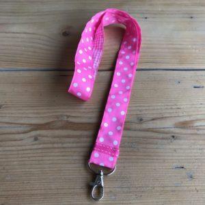 keycord pink zuurstok roze huissleutel fietssleutel cadeau kado nooit sleutels kwijt